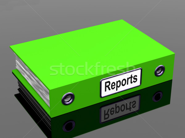 Reports File Shows Business Documents And Accounts Stock photo © stuartmiles