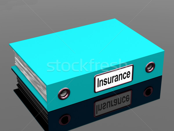 Insurance Policy Coverage File For Policies Stock photo © stuartmiles