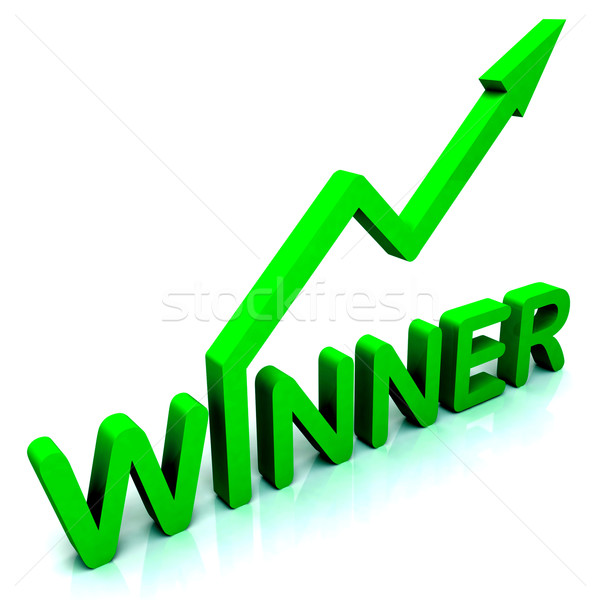 Winner Word Shows Successes And Victory Stock photo © stuartmiles