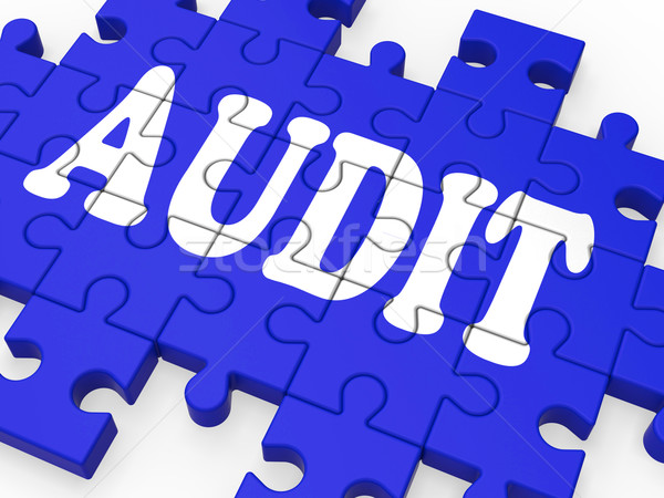 Audit puzzle auditeur Photo stock © stuartmiles