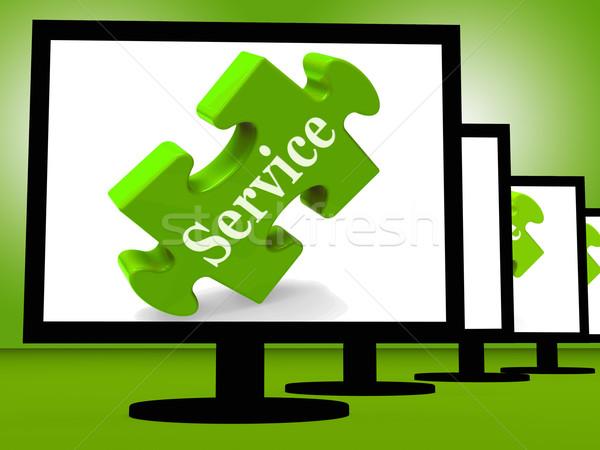 Service On Monitors Showing Community Service Stock photo © stuartmiles