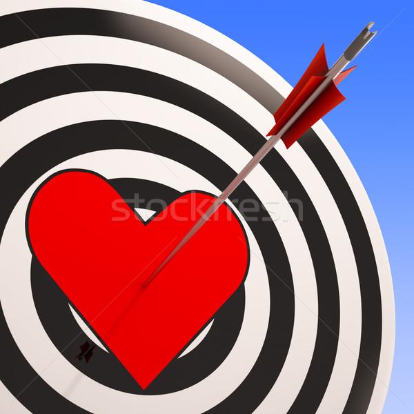 Heart Shows Love Passion Romance And Feeling Stock photo © stuartmiles