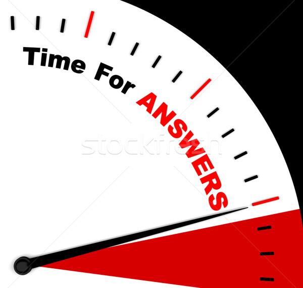 Respostas palavra relógio solução conhecimento wiki Foto stock © stuartmiles
