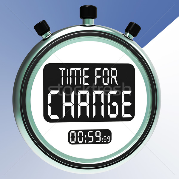 Time For Change Shows Different Strategy Or Vary Stock photo © stuartmiles