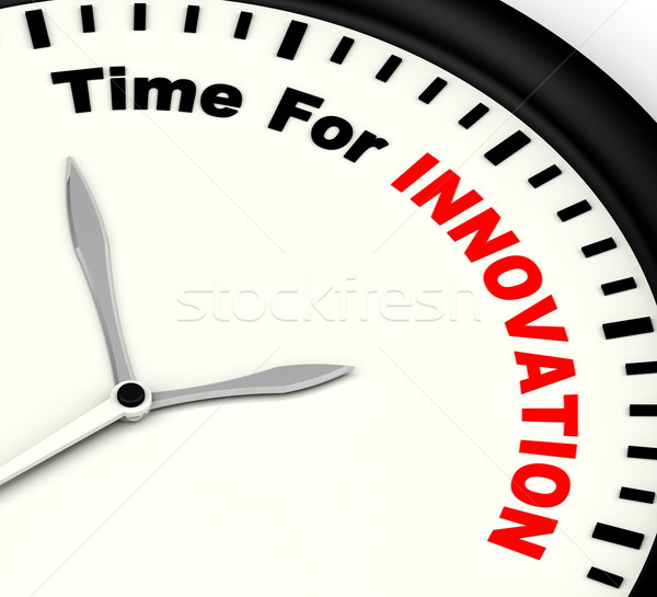 Time For Innovation Showing Creative Development And Ingenuity Stock photo © stuartmiles