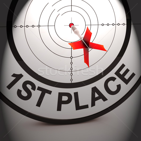 Yer kazanan ödüllendirmek başarı Stok fotoğraf © stuartmiles