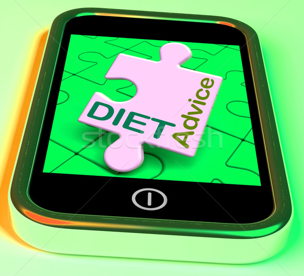 Diet Advice On Smartphone Shows Healthy Diets Online Stock photo © stuartmiles