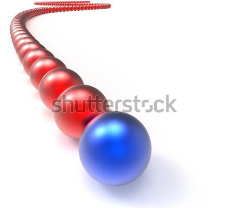 Leading Metallic Balls In Chain Showing Leadership Stock photo © stuartmiles