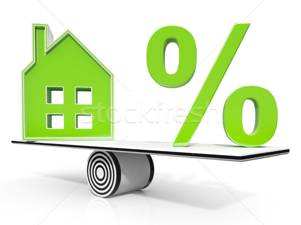 House And Percent Sign Meaning Investment Or Discount Stock photo © stuartmiles
