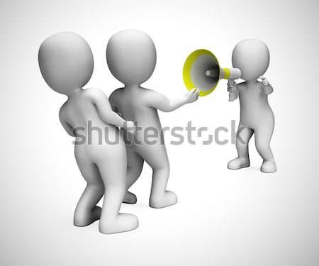 Personnage pense confondre pense communiquer Photo stock © stuartmiles