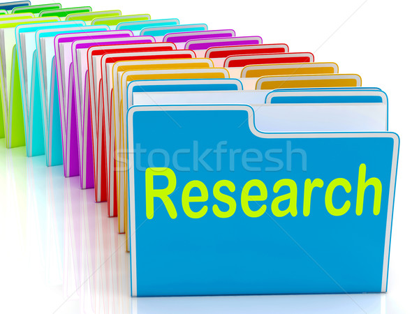 Research Folders Mean Investigation Gathering Data And Analysing Stock photo © stuartmiles