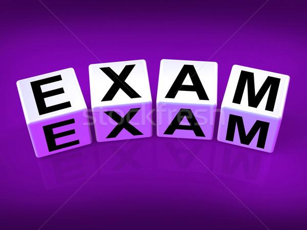 Exam Blocks Show Examination Review and Assessment Stock photo © stuartmiles
