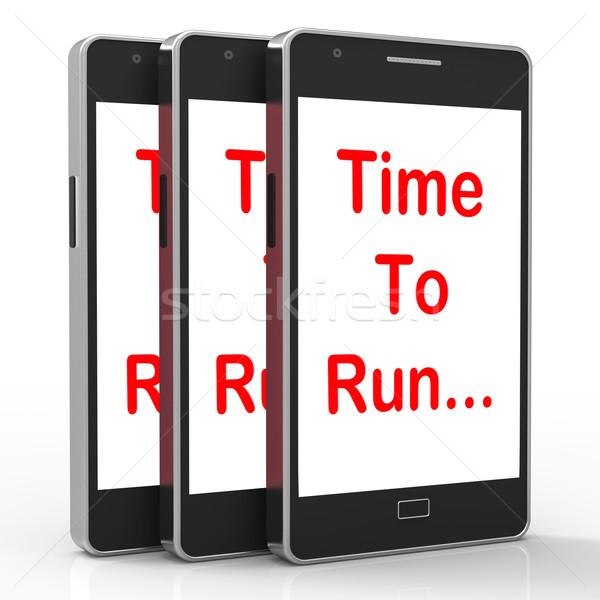 Idő fut okostelefon rövid jelentés Stock fotó © stuartmiles