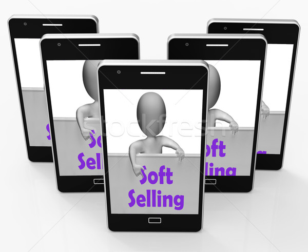 Soft Selling Phone Shows Friendly Sales Technique Stock photo © stuartmiles