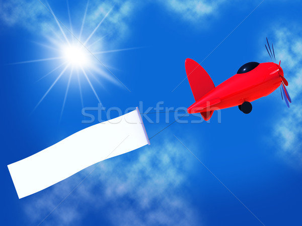 Flights Banner Shows Blank Space And Air Stock photo © stuartmiles