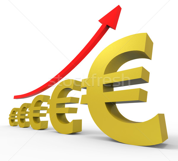 Gpp Increasing Shows Euro Sign And Accounting Stock photo © stuartmiles