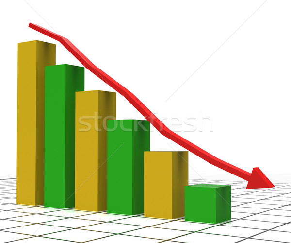 Decreasing Report Shows Graphic Analysis And Graphs Stock photo © stuartmiles