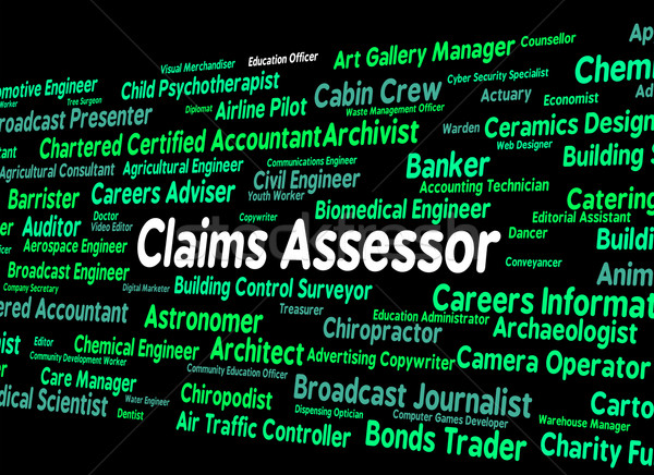 Claims Assessor Means Text Assessors And Words Stock photo © stuartmiles