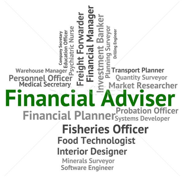 Financiële raadgever commerce adviseur handel Stockfoto © stuartmiles