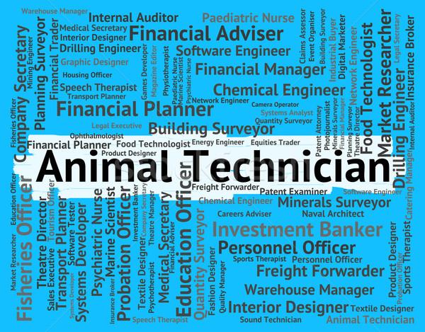 Hayvan teknisyen yetenekli işçi yaşayan hayvanlar Stok fotoğraf © stuartmiles