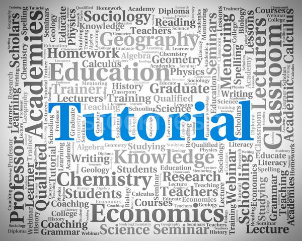 Tutorial Word Indicates Online Tutorials And College Stock photo © stuartmiles