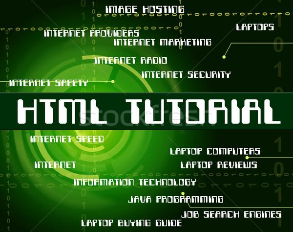 Html tutorial hipertext nyelv kód mutat Stock fotó © stuartmiles