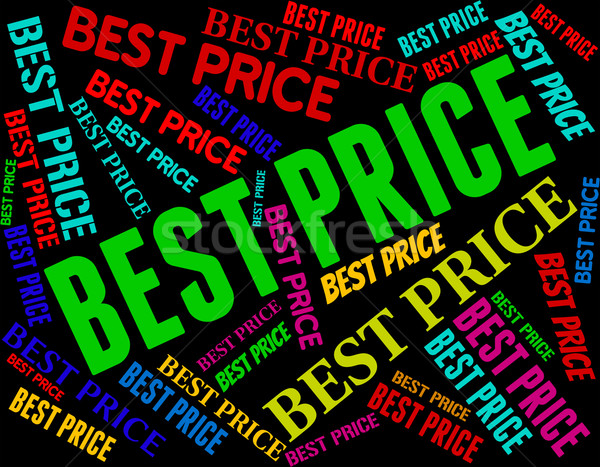 Best Price Shows Number One And Amount Stock photo © stuartmiles