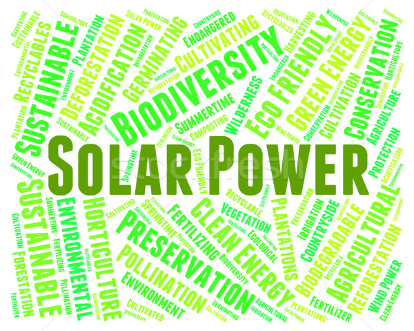 Solar Power Shows Energy Source And Electricity Stock photo © stuartmiles