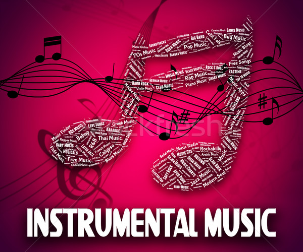Instrumental Music Indicates Musical Instruments And Harmony Stock photo © stuartmiles
