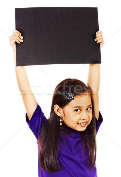 Nina bordo sonriendo negro feliz Foto stock © stuartmiles