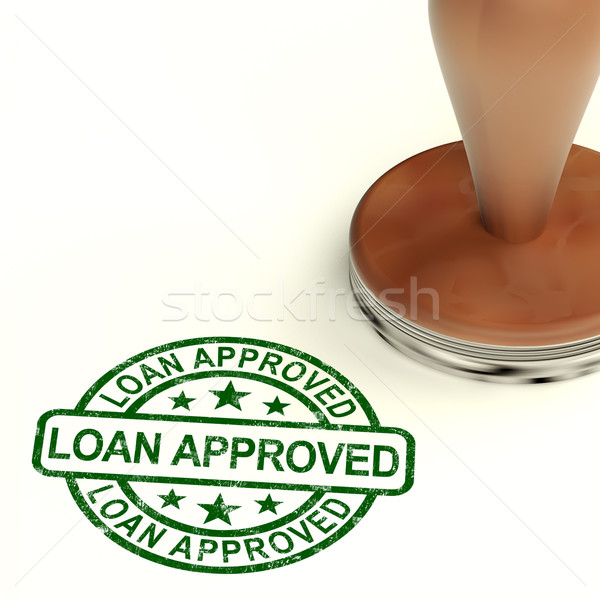Stock photo: Loan Approved Stamp Showing Credit Agreement Ok