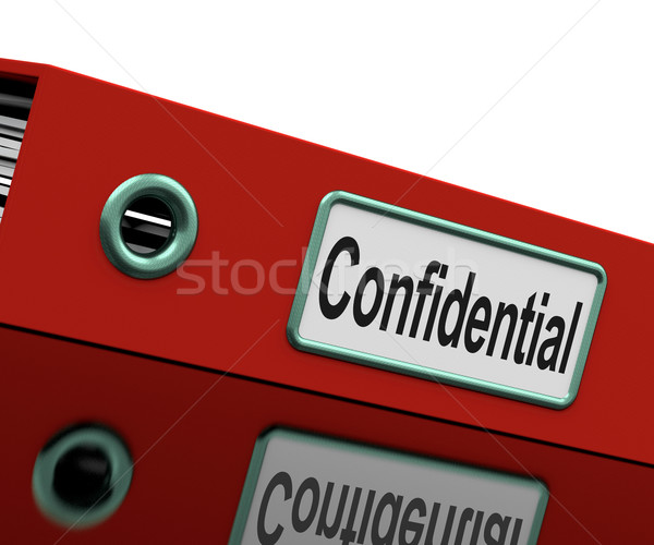 Confidential File Shows Private Correspondence Or Documents Stock photo © stuartmiles