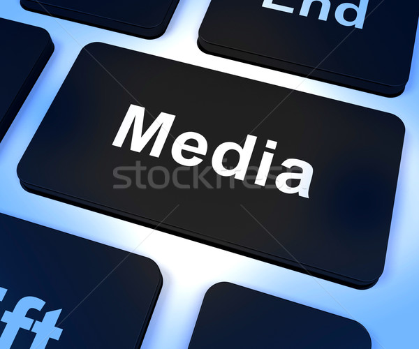 СМИ компьютер ключевые интернет вещание Сток-фото © stuartmiles