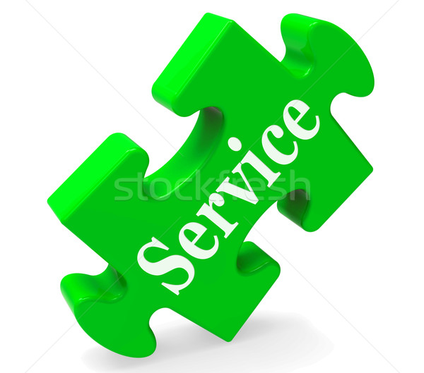 Service Means Help Support And Assistance Stock photo © stuartmiles