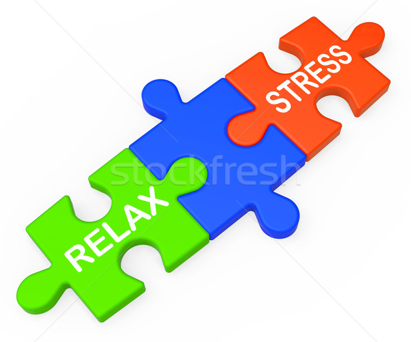 Stress Relax Shows Pressure Work Or Relaxation Stock photo © stuartmiles