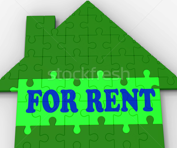 For Rent House Shows Rental Estate Agents Stock photo © stuartmiles