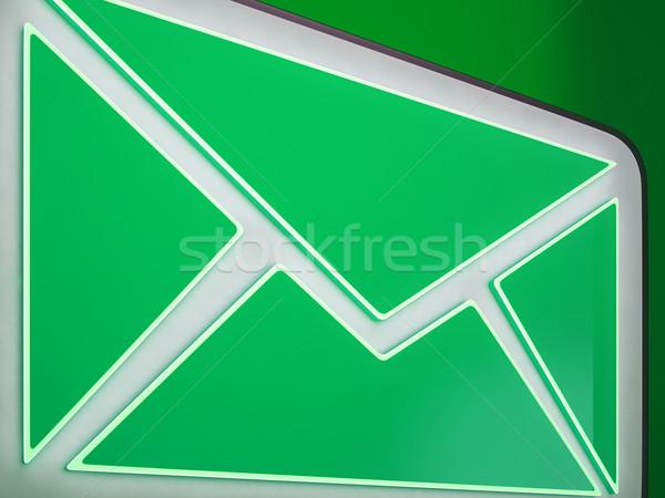 封筒 ボタン を メール 通信 ストックフォト © stuartmiles