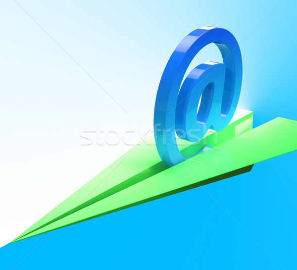 At Sign Aeroplane Shows Web Mailing Communication Stock photo © stuartmiles