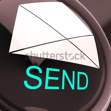 Envoyer enveloppe courriel un message boîte de réception ligne Photo stock © stuartmiles