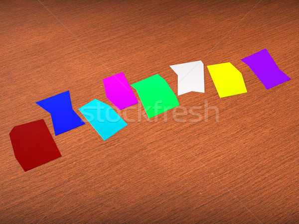 Eight Blank Paper Slips Show Copyspace For 8 Letter Word Stock photo © stuartmiles