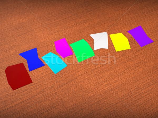 Sekiz boş kağıt göstermek bo mektup kelime Stok fotoğraf © stuartmiles