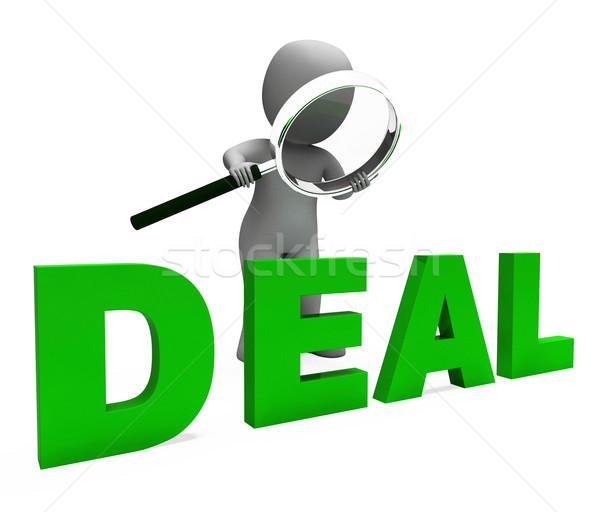 Deal Character Shows Deals Trade Contract Or Dealing
