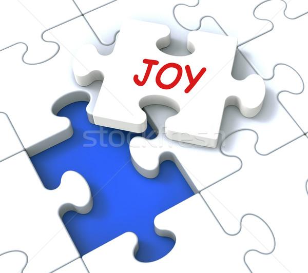 Radości puzzle wesoły radosny zabawy szczęśliwy Zdjęcia stock © stuartmiles