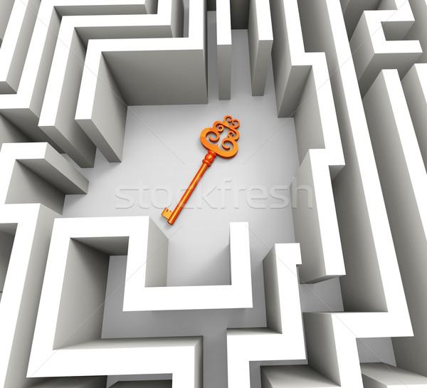 ключевые лабиринт безопасности решения головоломки Сток-фото © stuartmiles