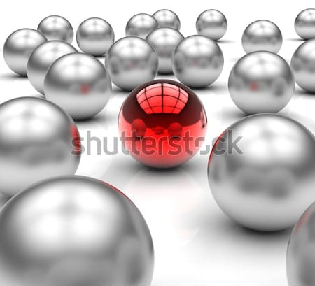 Leading Metallic Balls Shows Leadership Stock photo © stuartmiles