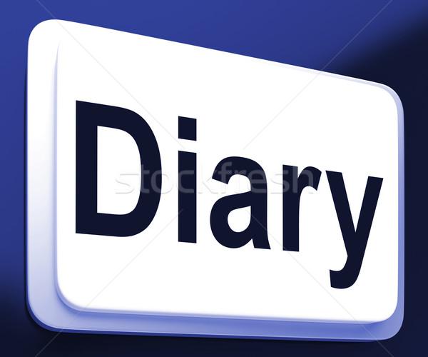 日記 ボタン を プランナー スケジュール ストックフォト © stuartmiles