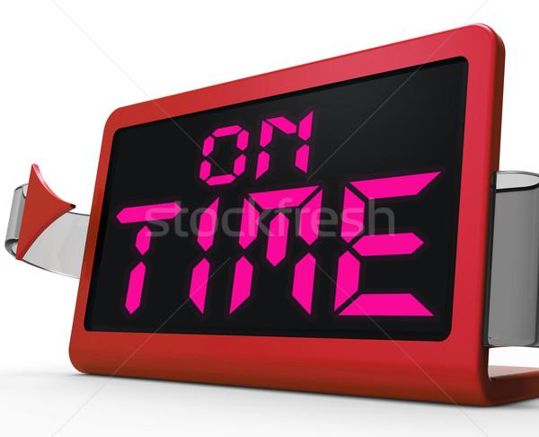 Tijd klok stipt betrouwbaar tonen Stockfoto © stuartmiles