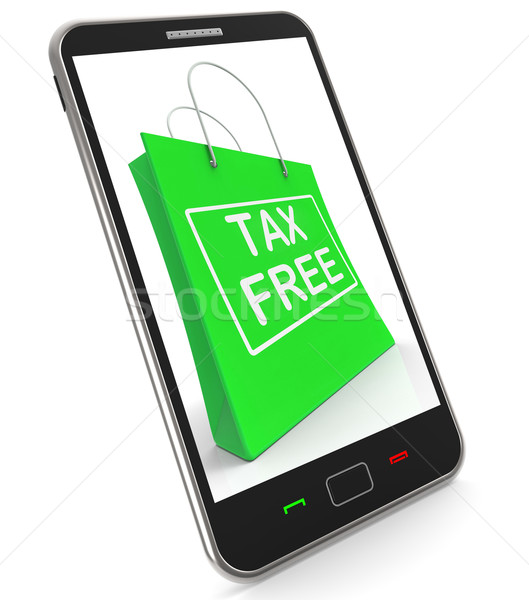 Tax Free Shopping Phone Shows No Duty Taxation Stock photo © stuartmiles