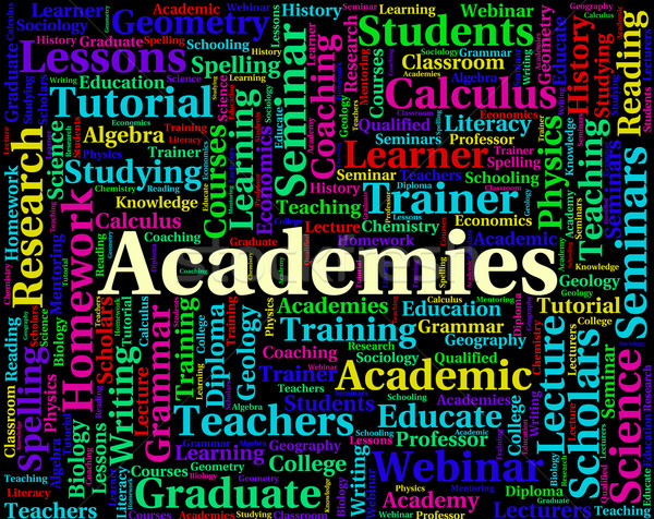 Academies Word Indicates Naval Academy And College Stock photo © stuartmiles