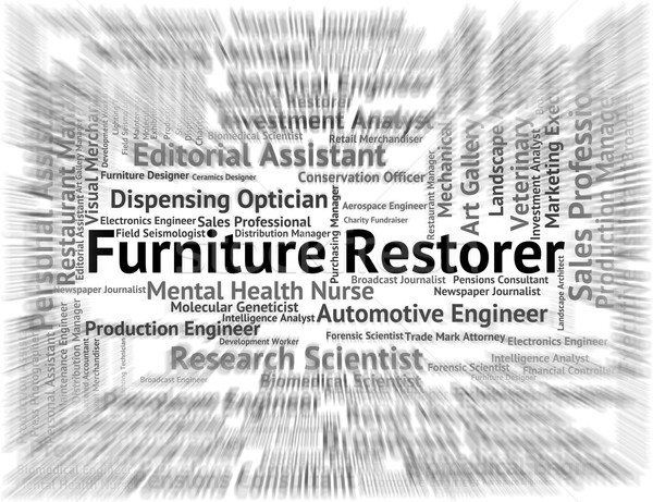 Furniture Restorer Means Refurbisher Occupations And Job Stock photo © stuartmiles